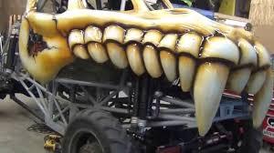 outside monster truck shows skeletor and american bad monster trucks debut youtube youtube