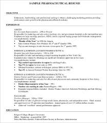 Sample Pharmaceutical Resume by 10 Sample Job Resumes Free Sample Example Format Download