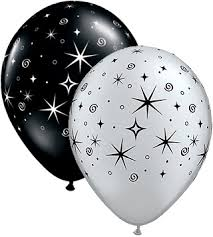 silver balloons balloons sparkles and swirls balloons silver and black