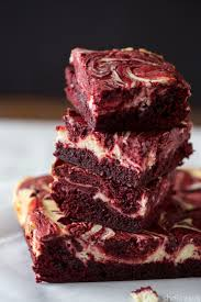 dress up your brownies in red velvet and cheesecake swirls for the
