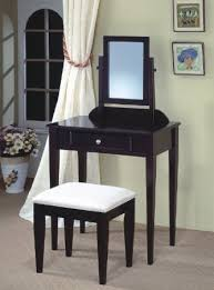 Wood Vanity Table Amazon Com Jrs Wood Vanity Set With Stool And Mirror Black Finish