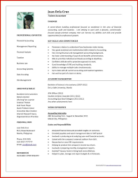 resume format doc for fresher accountant resume format in word in word format for an accountant luxury cpa
