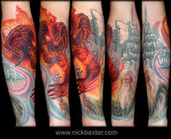 mordor inspired lord of the rings tattoos mordor the land of