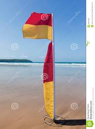 Uk Beach Flags Red And Yellow Beach Safety Flag Stock Photo Image 33603282