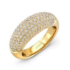 rings with pave images Uneek pave set diamond yellow gold ring lvbw180y rings the jewels jpg