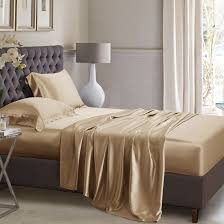 cappuccino silk bed linen high quality mulberry silk