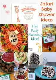safari baby shower ideas safari baby shower free party planning ideas food