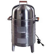 meco double grid electric water smoker in stainless steel 5029p2