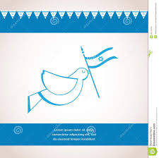 Israels Flag Peace Dove Holding Israeli Flag Stock Illustration Image 40143753