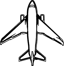 airplane top view coloring page wecoloringpage