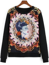 gothic thanksgiving pictures multicolor round neck gothic thanksgiving carnival beauty print