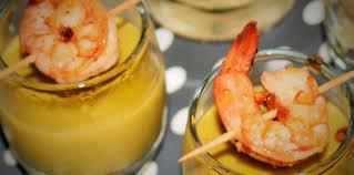 cuisine crevette verrine crevette et crème de petit pois facile et pas cher