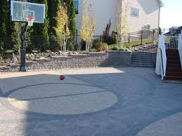 basketball court pavers a mom s diy backyard basketball court from