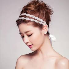 bridal headband 2015 cheap bridal headbands rhinestone ribbon