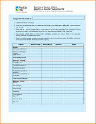 Money Saving Spreadsheet Budget Worksheet Template Free Household Budget Spreadsheet