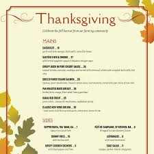 thanksgiving menu template doliquid