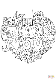 thank you teacher doodle super coloring teacher appreciation
