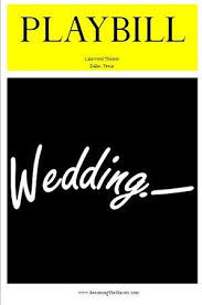playbill wedding program playbill program template 30 best wedding playbills images on
