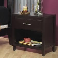 modus nevis 1 drawer nightstand in espresso nv2381