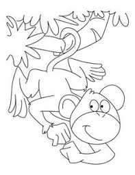 cartoon monkey coloring pages kids enjoy coloring animals