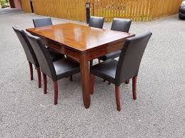 extending table willis u0026 gambier solid hardwood extending table u0026 6 leather chairs