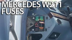where are fuses and relays in mercedes benz w211 fusebox location