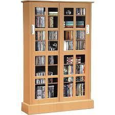 Multimedia Storage Cabinet With Doors Atlantic Windowpanes Media Storage Cabinet With Sliding Glass