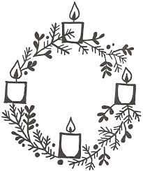 advent wreath coloring page 5151