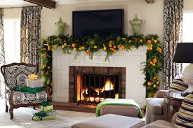fireplace fireplace christmas decorations with table lamps and tv