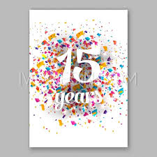 birthday invitation and greeting card sign over confetti vector