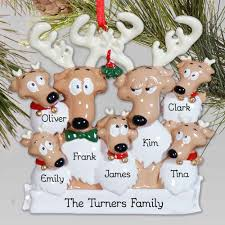personalized reindeer family ornament giftsforyounow