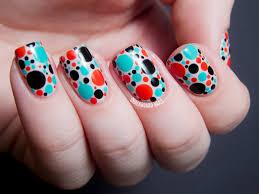 cute polka dot nail art tutorial indian ocean polish aboriginal