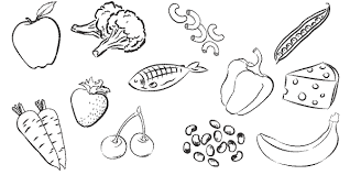 healthy eating colouring pages ziho coloring