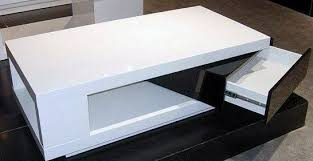 Modern Italian Coffee Tables Rectangular Shaped Contemporary White And Black Coffee Table