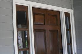 staining your door without stripping stain over existing stain or