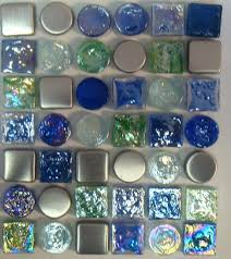 photos hgtv blue glass mosaic tile with puddling effect on floor