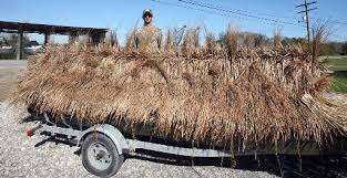 Boat Duck Blinds For Sale A Little Exterior Decorating Helps Give Duck Blind More Natural
