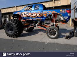racing monster truck thrasher monster truck at fund raiser for komen race for the cure
