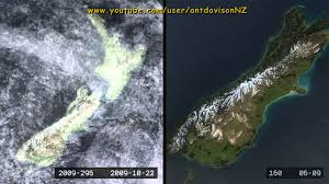 Satellite Weather Map New Zealand Weather Satellite Time Lapse Plus Cloud Removal Youtube