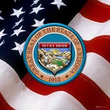 Az State Flag Arizona State Seal Over U S Flag Digital Art By Serge Averbukh