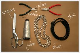 make chain necklace images Chain belt necklace diy jpg