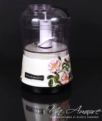 custom floral painted kitchenaid 3 5 cup food chopper un amore