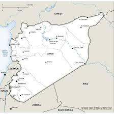 map of syria map of syria vector at vectorportal