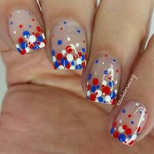 31 patriotic nail ideas for the 4th of july blue polka dots