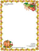 thanksgiving letterhead