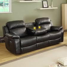 Reclining Living Room Sets Homelegance Marille 2 Piece Reclining Living Room Set In Black