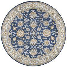 round rug blue safavieh impressions round rug in blue im505b 5r