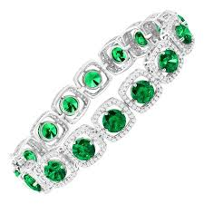 bracelet jewelry tennis images 41 ct green white swarovski zirconia tennis bracelet in sterling jpg