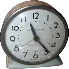 metalware westclox good morning wind alarm clock mi canada home