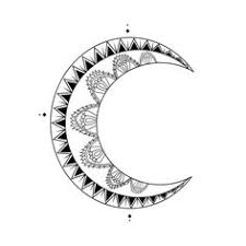 pin crescent moon tattoos large gallery of free designs on